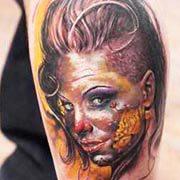 Something is. Christy mack tattoo